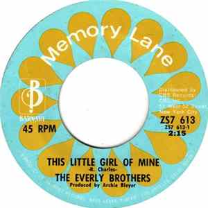 The Everly Brothers - This Little Girl Of Mine / Should We Tell Him MP3